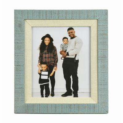 Dennisport Linen and Wood 8 in. x 10 in. Picture Frame