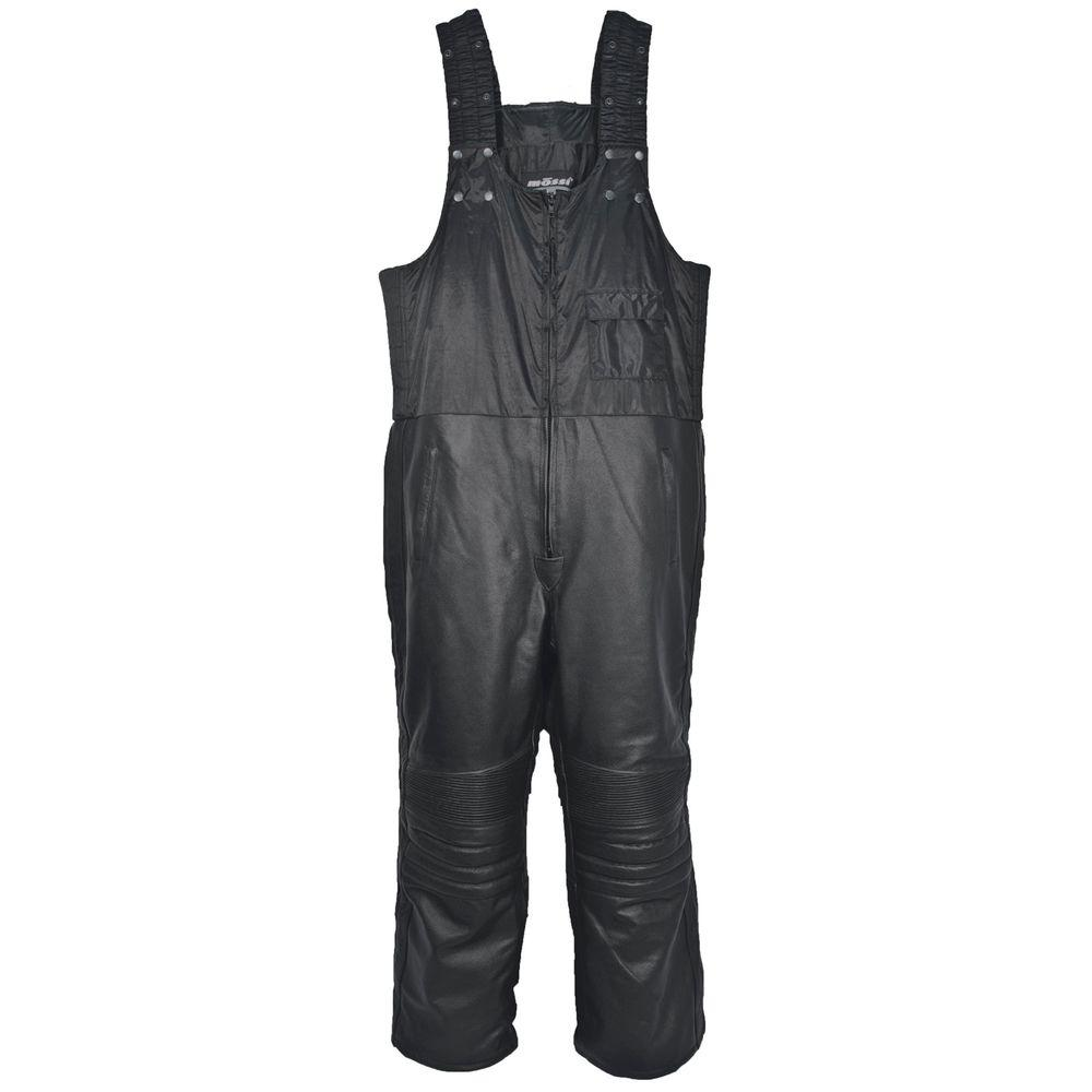 Mossi Medium Black Leather Snowmobile Bibs-DISCONTINUED