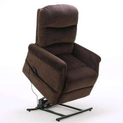 Halea Chocolate Fabric Lift Up Recliner