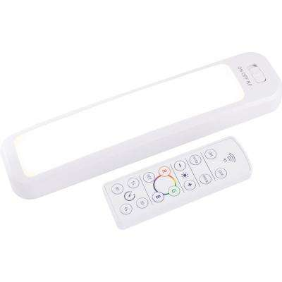 Color-Changing 12 in. LED White Under Cabinet Light Bar with Remote