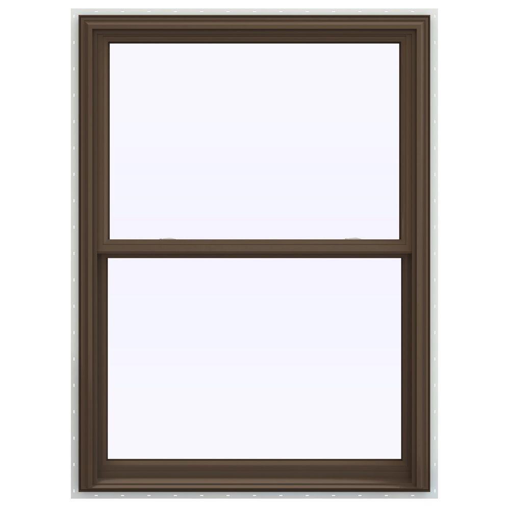 JELD-WEN 39.5 in. x 53.5 in. V-2500 Series Double Hung Vinyl Window - Brown