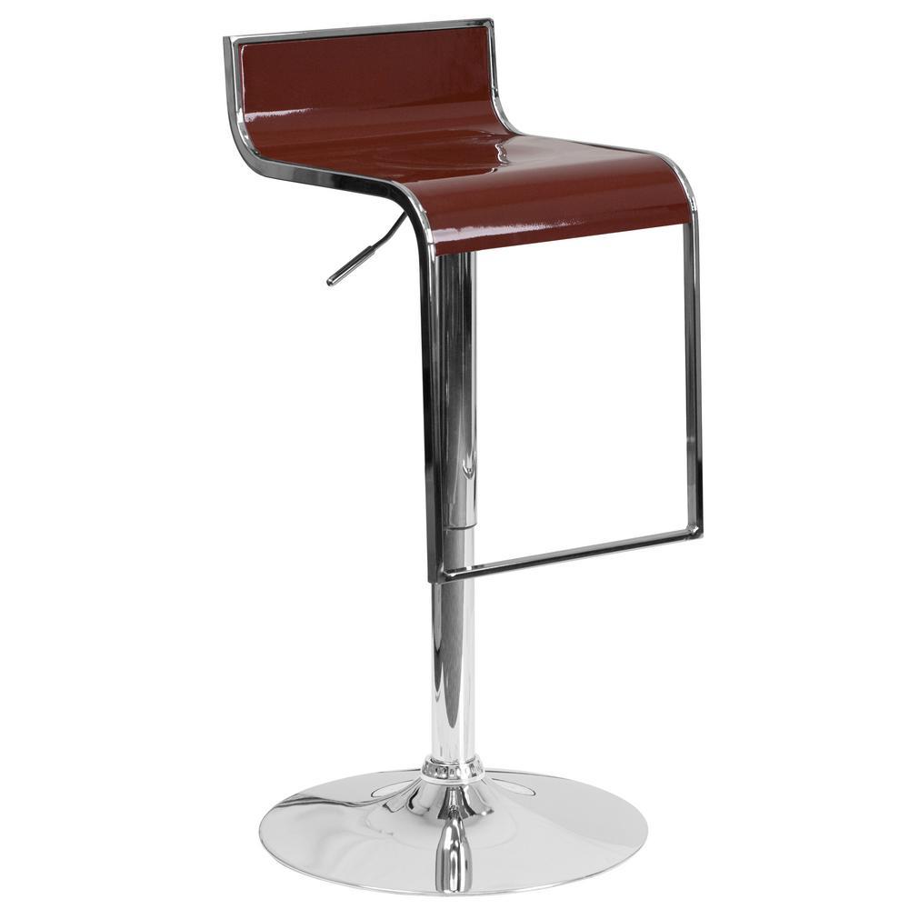 Flash Furniture Adjustable Height Burgundy Bar Stool