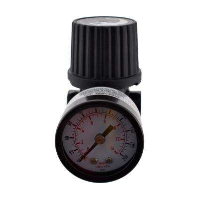 1/4 in. Black Air-Compressor Regulator with Gauge