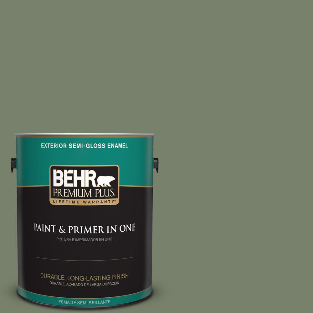 1-gal. #430F-5 Bahia Grass Semi-Gloss Enamel Exterior Paint
