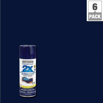12 oz. Gloss Navy Blue General Purpose Spray Paint (6-Pack)