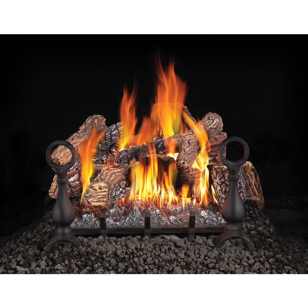 18 in. Vented Natural Gas Log Set with Electronic Ignition
