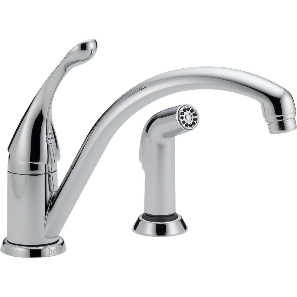 Delta Collins Single-Handle Standard Kitchen Faucet with Side ...