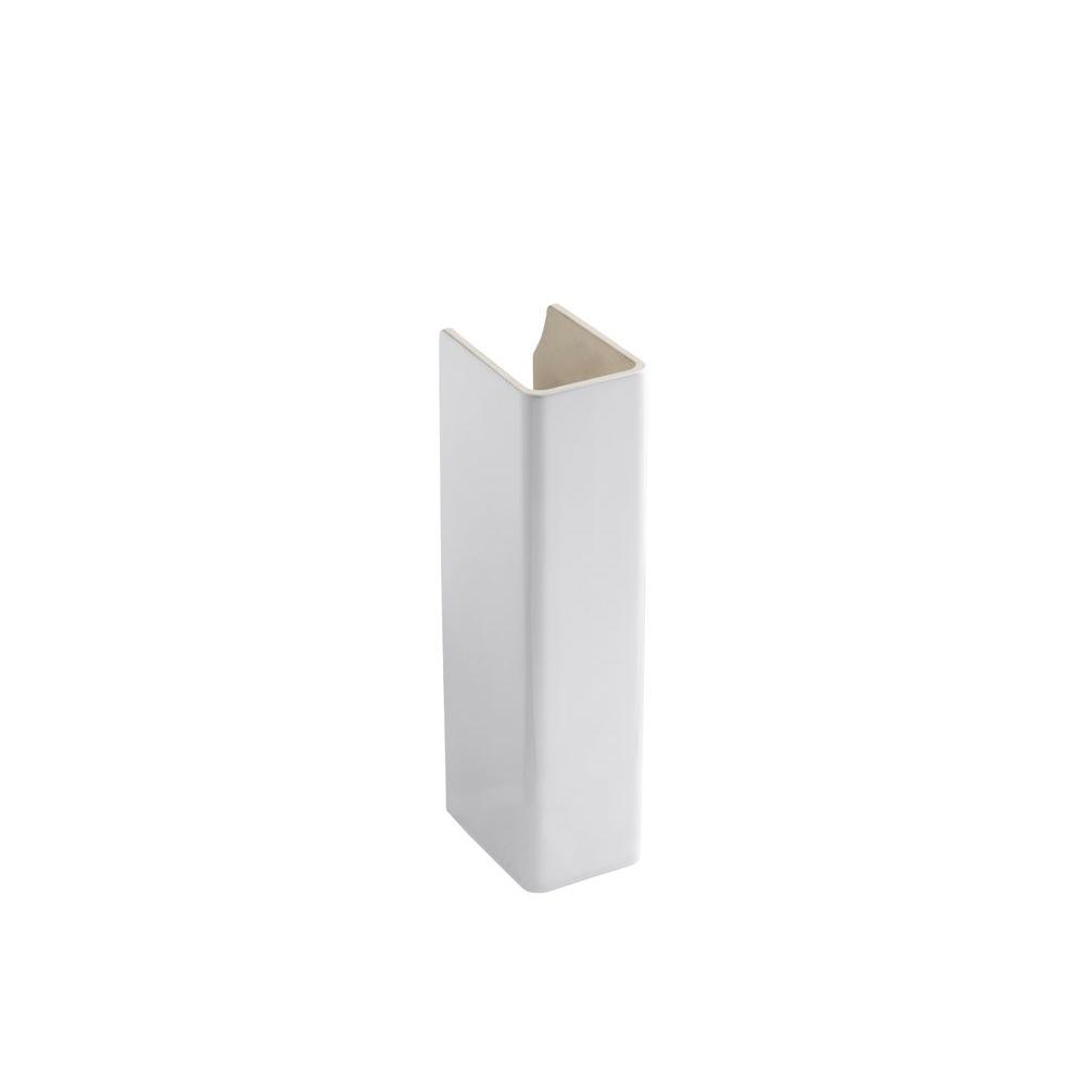 Kohler reve ceramic pedestal in white k 5032 0 the home depot - Ceramic pedestal table base ...