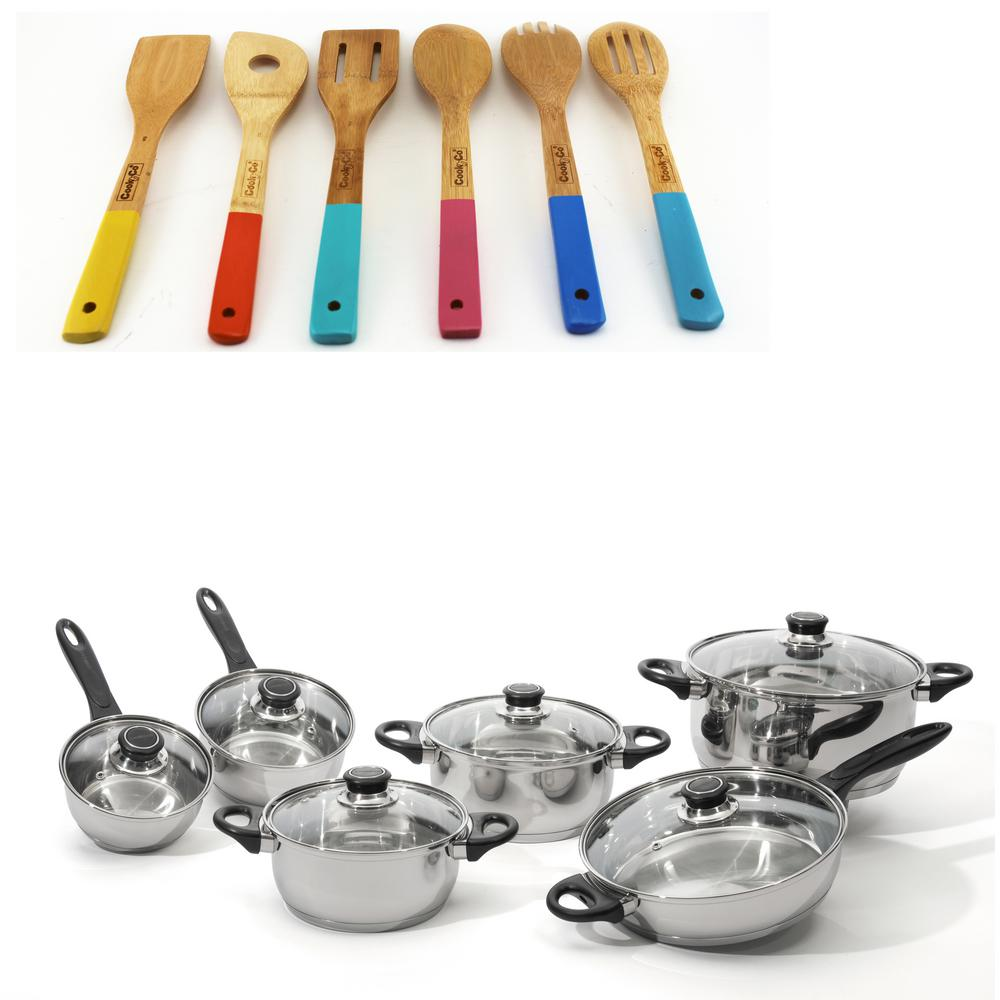 Onsted 18-Piece Cookware Set with Utensils