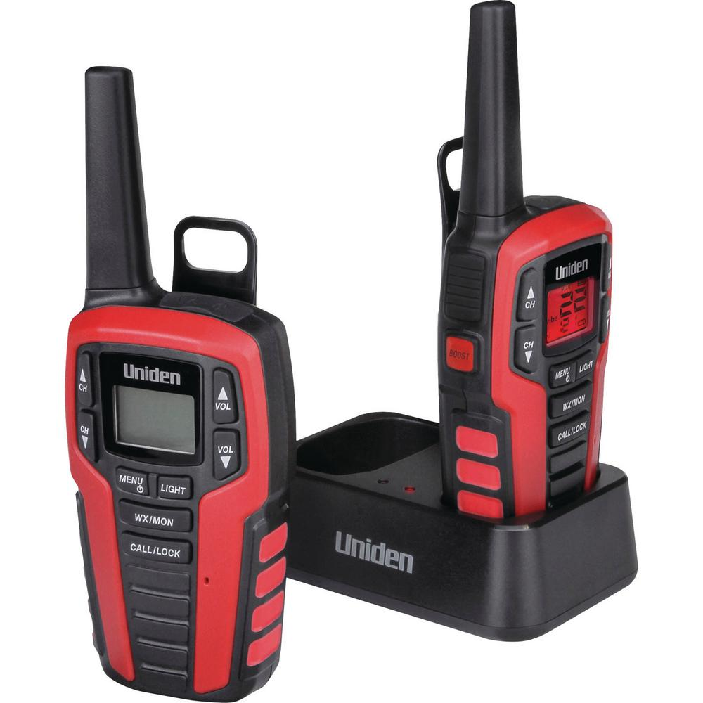 Uniden 32-Mile 2-Way FRS/Gmrs Radios with Headsets (2-Pack) These Uniden 32-Mile 2-Way FRS/GMRS Radios are great for keeping in touch when you're out with family and friends. Whether you're camping, shopping, hiking or any other activity these radios will help you stay connected without having to worry about cell phone coverage or minutes. Enjoy simple, fuss-free two-way communication with Uniden.