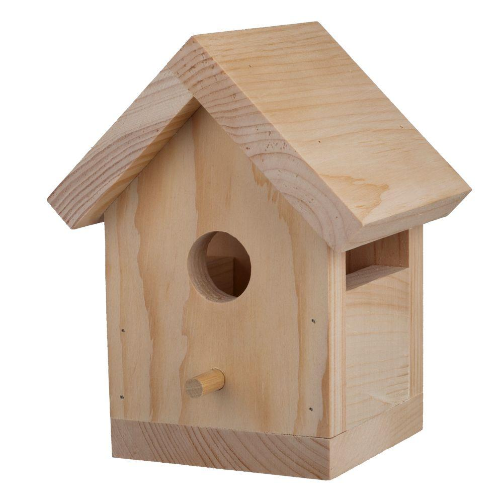 Birdhouse kit 12 pack 94541 the home depot for Simple diy birdhouse plans