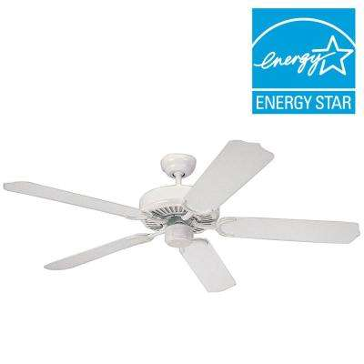 Weatherford 52 in. White Ceiling Fan with ABS Blades