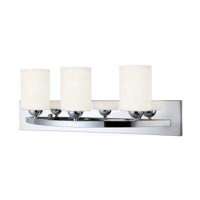 Hampton 3-Light Chrome Bath Light