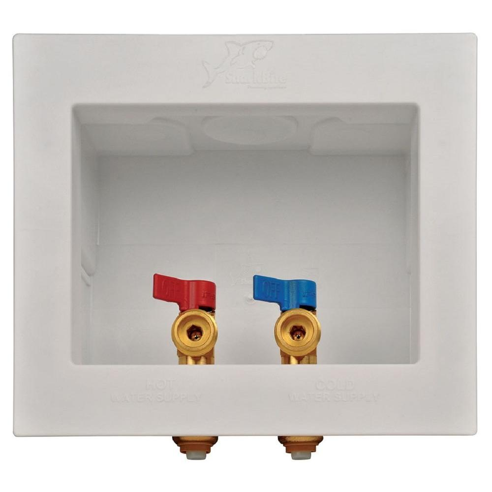 SharkBite 1/2 in. Push-to-Connect x 3/4 in. MHT Brass Washing Machine Outlet Box