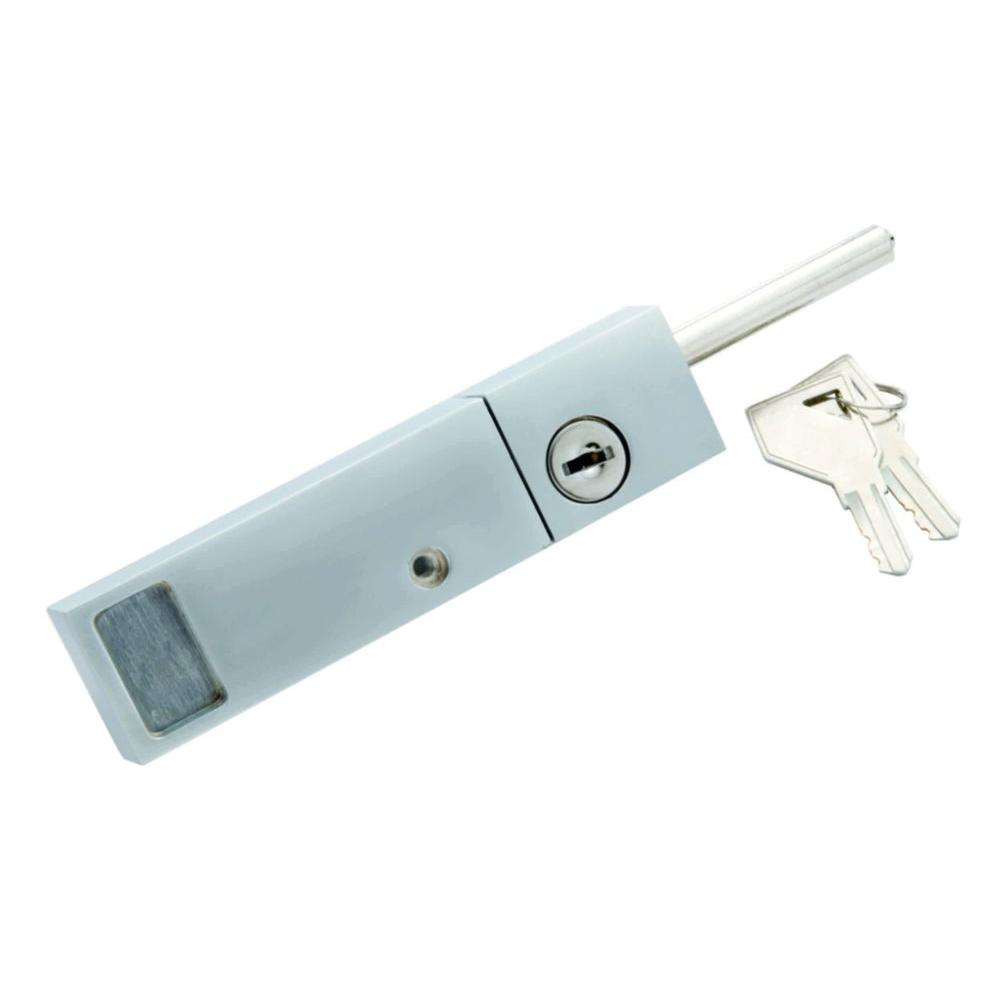 First watch security chrome keyed patio door lock with for Home depot sliding glass door lock