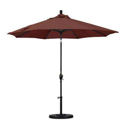 9 ft. Aluminum Push Tilt Patio Umbrella in Terrace Adobe Olefin