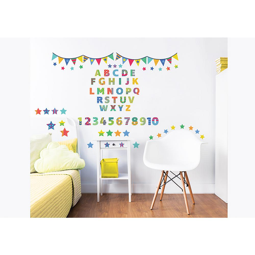 Walltastic Multi Color ABC Learn With Me Wall Stickers WT44920   The Home  Depot