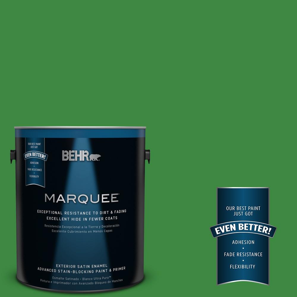 BEHR MARQUEE 1-gal. #T12-9 Level Up Satin Enamel Exterior Paint