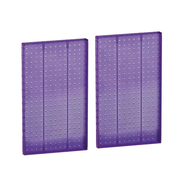 22 in. H x 13.5 in. W Styrene Pegboard Purple (2-Piece Per Box)