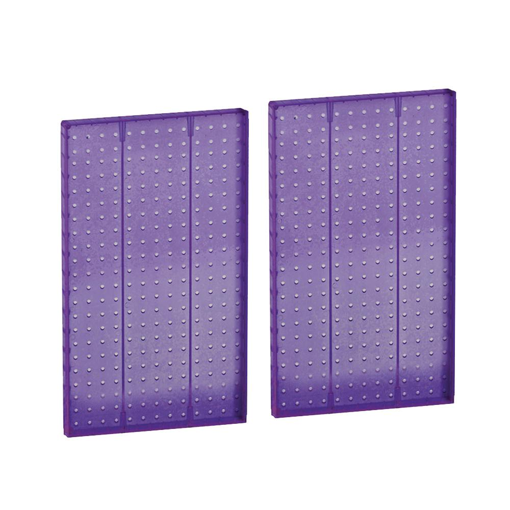 22 in. H x 13.5 in. W Styrene Pegboard Purple (2-Piece