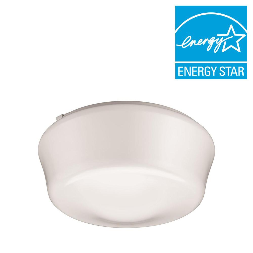 Elementary 11 in. White LED Flushmount (3000K)