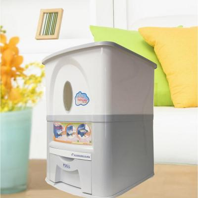33 lbs. Capacity Rice Dispenser in White
