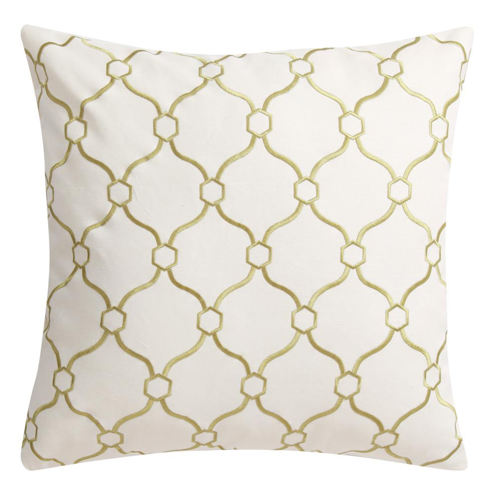 Sage Green Chainmail Decorative Pillow