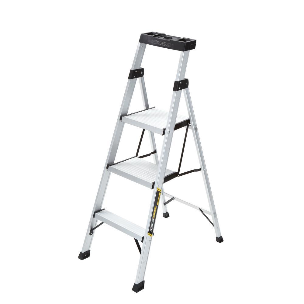 4.5 ft. Aluminum Hybrid Ladder with 250 lb. Load Capacity Type I Duty Rating