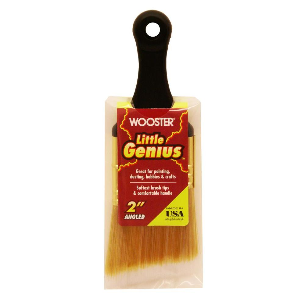 Wooster 2 in. Angle Sash Synthetic Blend Little Genius Brush (25-Pack)