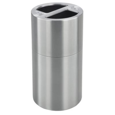 30 Gal. Dual Recycling Receptacle Commercial Trash Can
