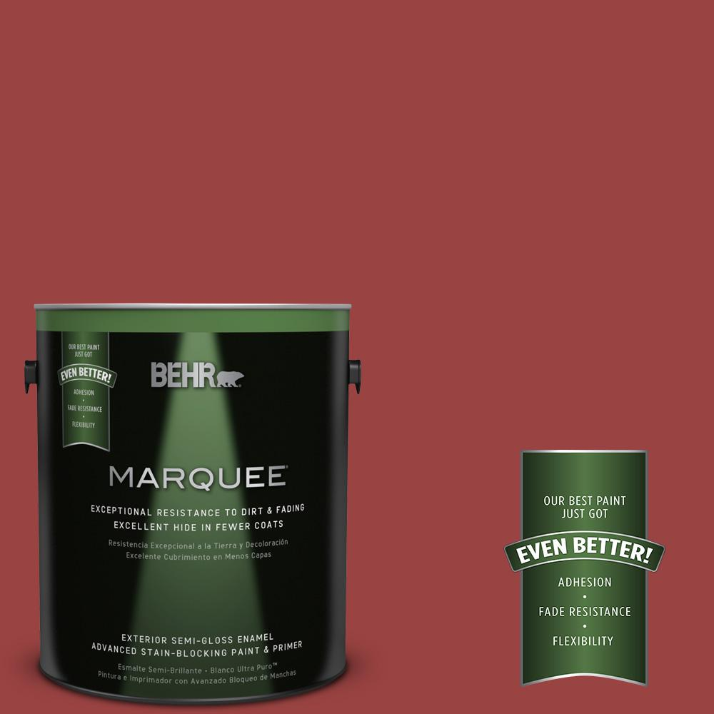 1 gal. #MQ1-10 Red My Mind Semi-Gloss Enamel Exterior Paint and