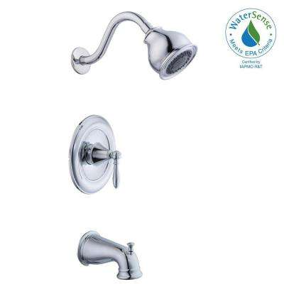 Varina Single-Handle 3-Spray Tub and Shower Faucet in Chrome (Valve Included)