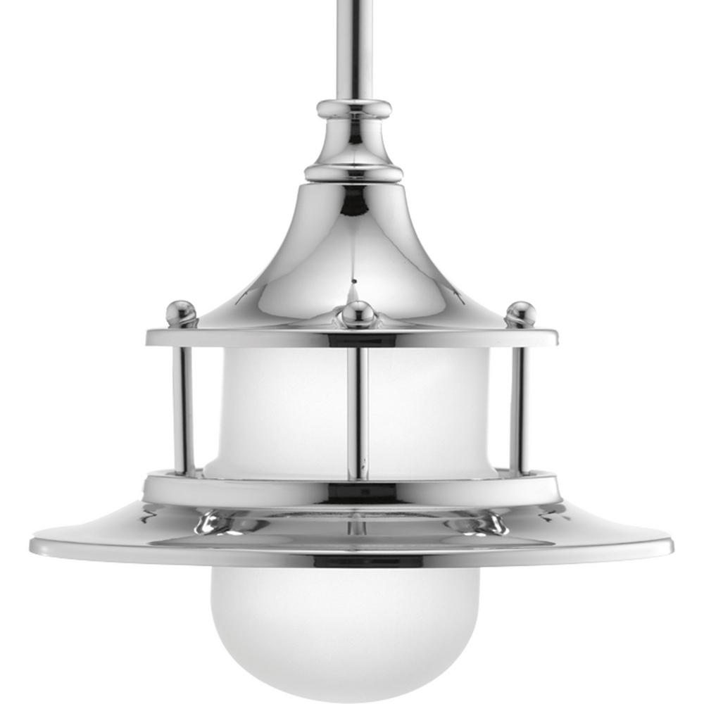 Parlay Collection 9-Watt Polished Chrome Integrated LED Mini Pendant with Etched