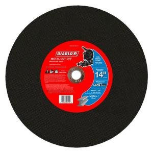 Click here to buy Diablo 14 inch x 7/64 inch x 1 inch Metal Chop Saw Disc (5-Pack) by Diablo.