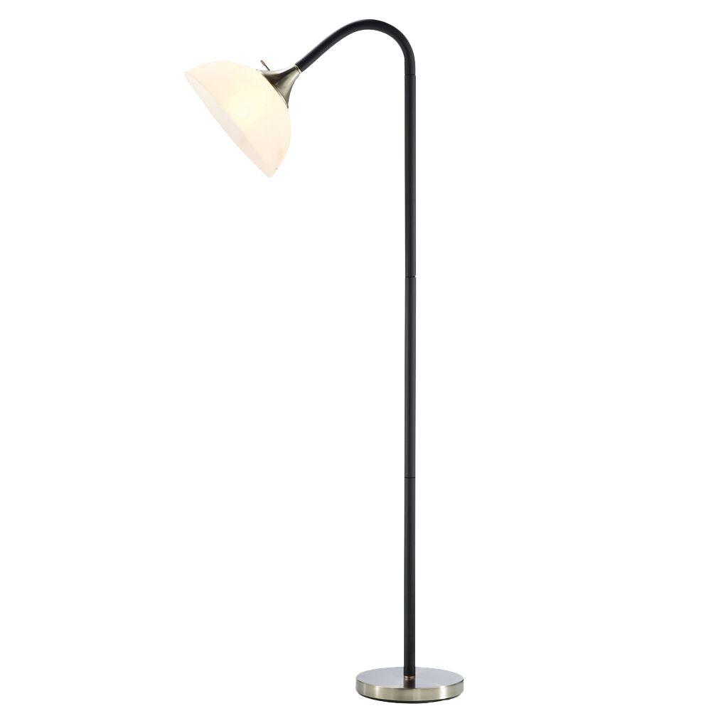 Adesso Gander 71 In H Black Floor Lamp