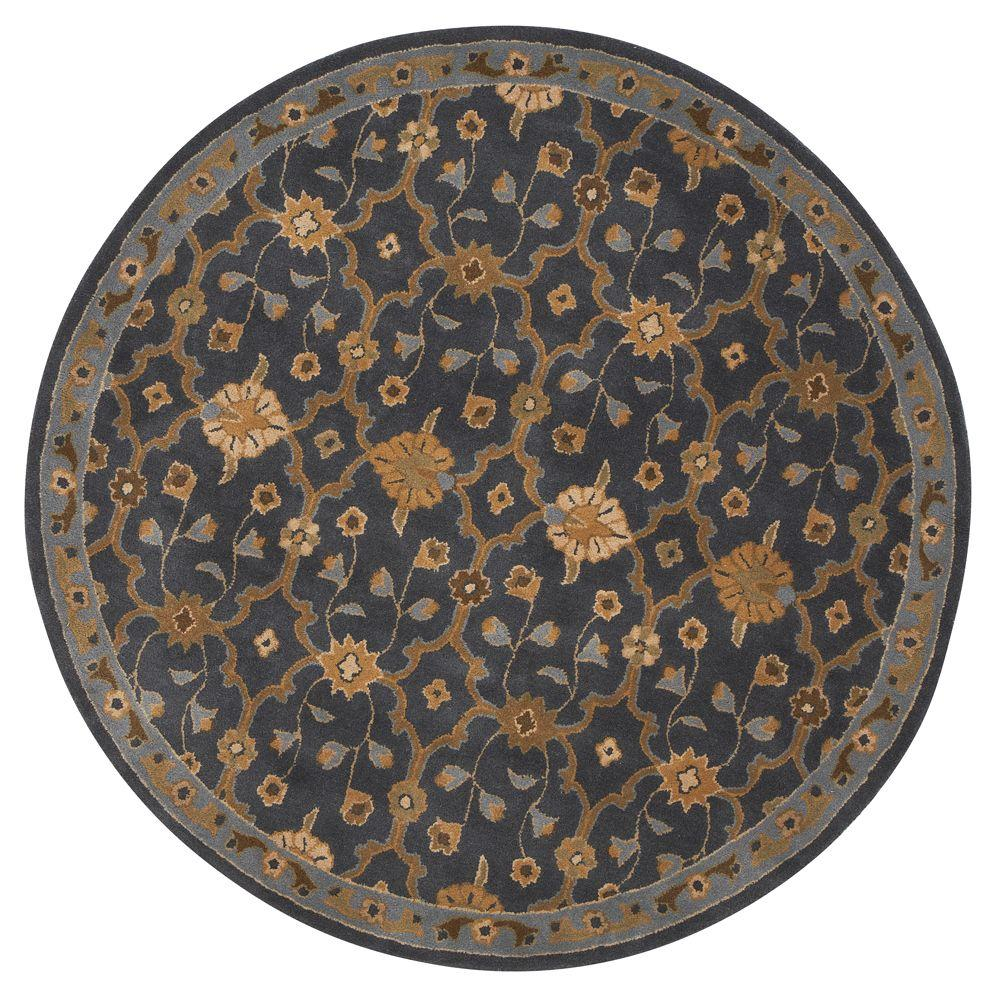 Home Decorators Collection Exeter Blue 7 ft. 9 in. Round Area Rug