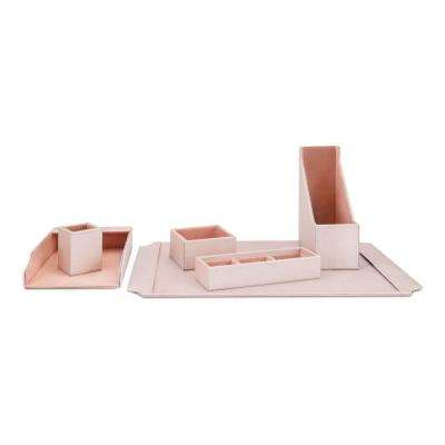 Beth Kushnick Pink Desk Set in Gift Box (Set of 6)