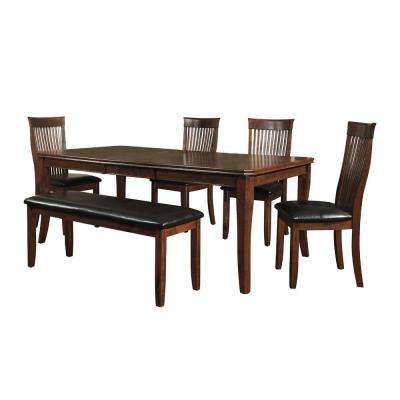 Hillside 6-Piece Weathered Chestnut Dining Set