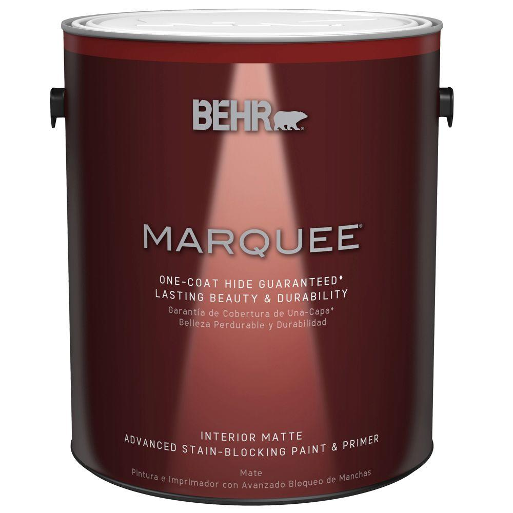 BEHR MARQUEE 1 Gal. Ultra Pure White Matte One-Coat Hide