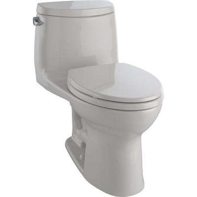 UltraMax II 1-Piece 1.28 GPF Single Flush Elongated Toilet with CeFiONtect in Sedona Beige, Seat Included