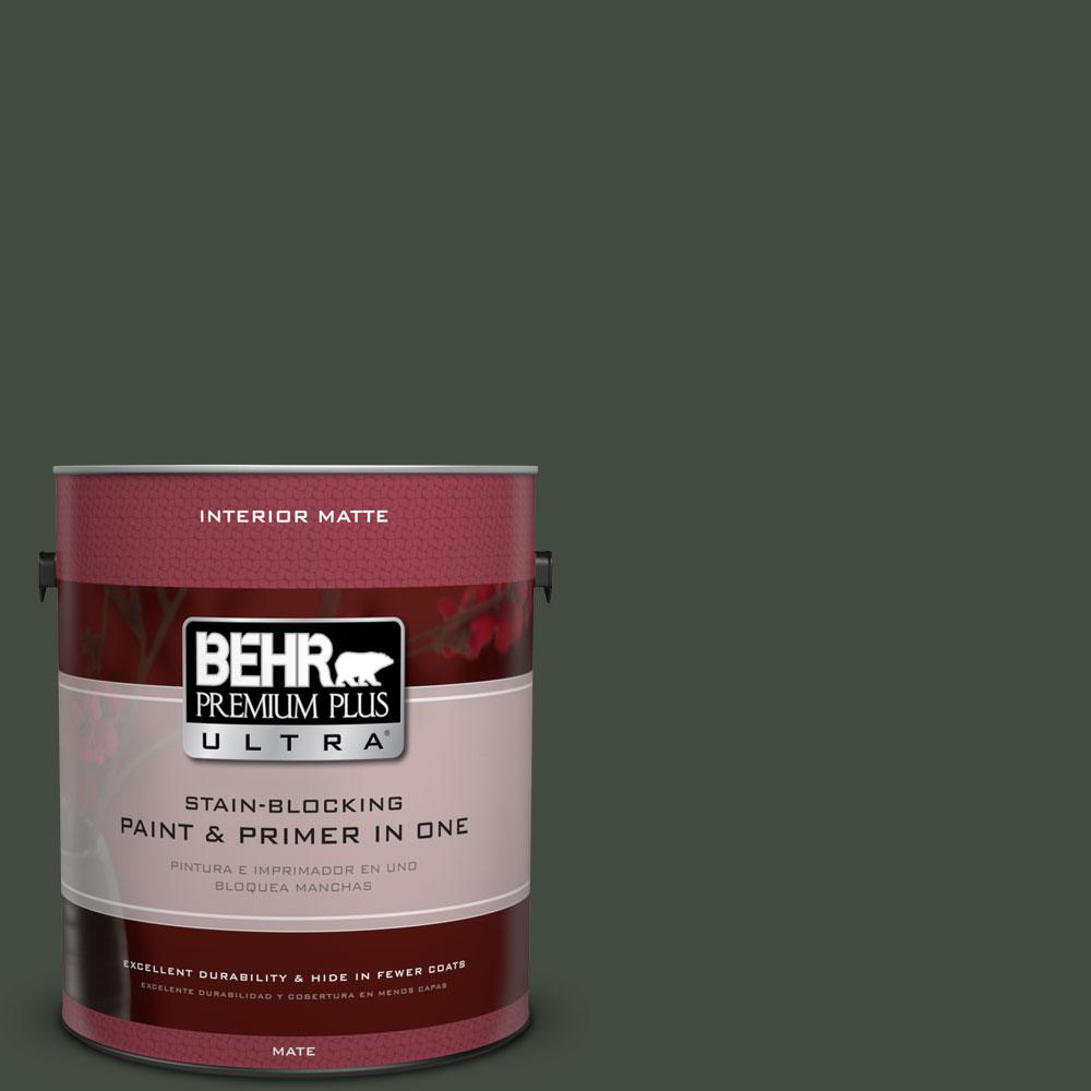 1 gal. #BXC-12 Deep Forest Matte Interior Paint