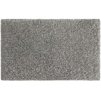 Rachel Lurex 20 in. x 34 in. Bath Rug, Dark Grey