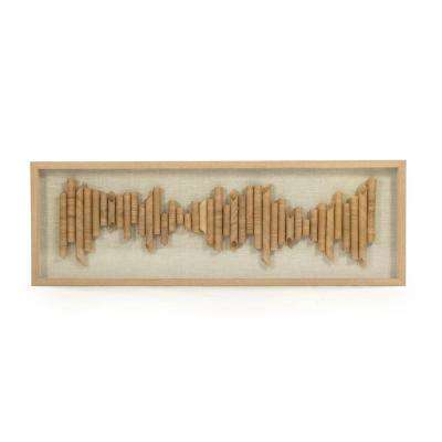 """Abstract Rolled Paper Framed Wall Art"" by Zentique"