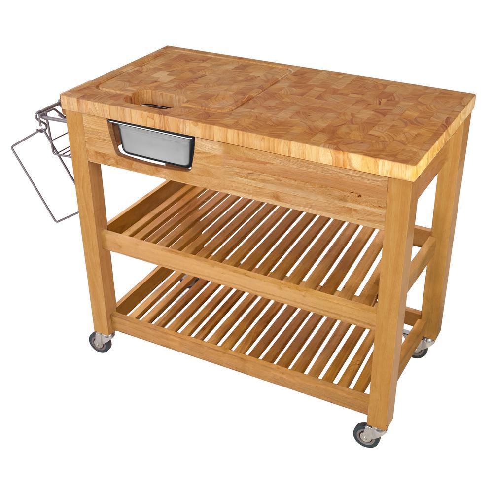 Chris Pro Chef Natural Kitchen Cart