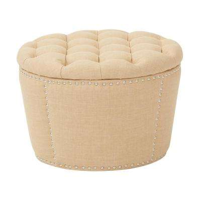 Lacey Milford Maize Tufted Storage Ottoman Set