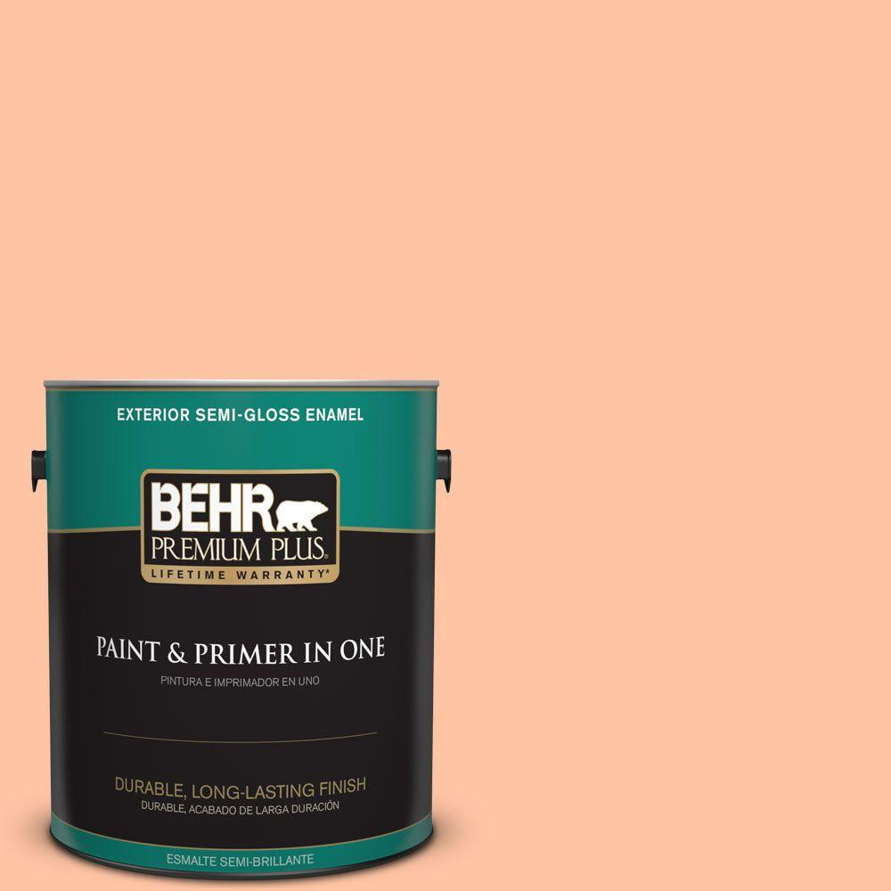 1-gal. #240A-3 Bright Citrus Semi-Gloss Enamel Exterior Paint