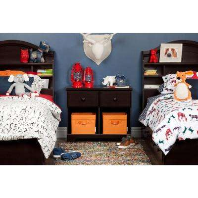 Summer Breeze 2-Drawer Chocolate Nightstand