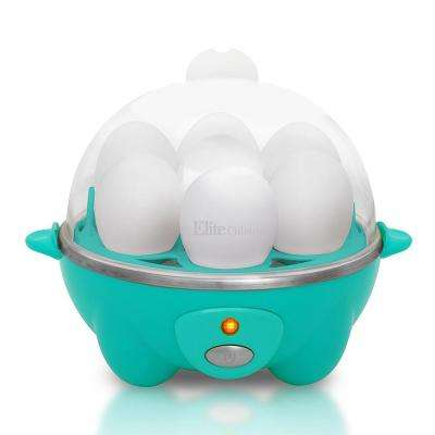 7 Egg Automatic Easy Egg Cooker Teal Color