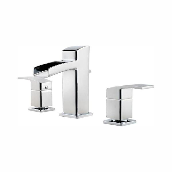 Kenzo 8 in. Widespread 2-Handle Bathroom Faucet in Polished Chrome
