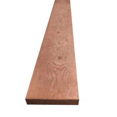 1 in. x 4 in. x 8 ft. Barn Wood Brown Pine Trim Board (6-Piece per Box)
